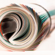 Stock Photo: Magazine Roll. Side view.