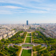 Aerial panoramic view of Paris and Seine river as seen from Eiff - Zdjęcie stockowe