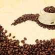 Shot of a cup of coffee beans.  — Stock Photo