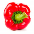 Fresh red pepper on white — Stock Photo