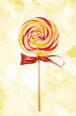 Lovely Lollipop on holiday lights — Stock Photo