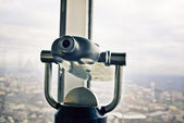 Telescope overlooking for Moscow — Stock Photo