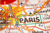 Paris on a map — Stock Photo