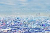 Ovan se Moskva stadsbilden och blå moln i höst — Stockfoto