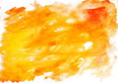 Red and Yellow Water Color Paint Texture — Stock Photo
