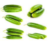 Set of green cucumbers — Stock Photo