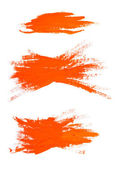 Orange watercolor brush strokes with space for your text — Stock Photo