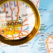London on a map — Foto de Stock