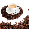 Cup of coffee cappuccino isolated — Stock Photo