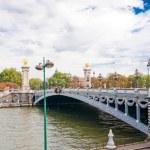 Pont Alexandre III - Bridge in Paris, France. — Stock Photo