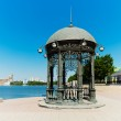Rotunda on the shore of the pond in the center of Ekaterinburg, — Stock Photo