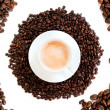 Cup of coffee cappuccino isolated over white background — Foto de Stock