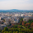 Aerial panoramic view of Paris and Seine river as seen from Eiff — Stock fotografie