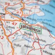 Edinburgh on a map - Stock Photo