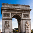 The Arc deTriomphe in Paris — Stock Photo