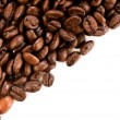 Coffee beans on the white background with copy space — ストック写真
