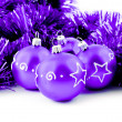 Purple balls — Stock Photo