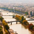 Aerial panoramic view of Paris and Seine river as seen from Eiff — Stock Photo #21574997