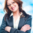 Smiling business woman. — Foto Stock