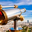 Eiffel Tower telescope overlooking for Paris. — Stock Photo #21575329