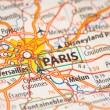 Stock Photo: Paris on map