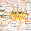 London on a map — Stock Photo #21575729