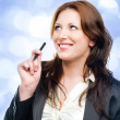 Stock Photo: Attractive business woman dreaming