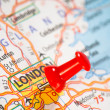 London on a map — Stock Photo