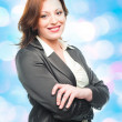 Smiling business woman — Stockfoto