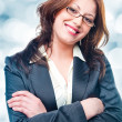 Smiling business woman. — Stock Photo