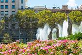 Placa de Catalynia. (Square of Catalonia) Barcelona. — Stock Photo