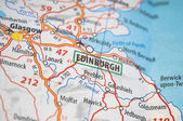 Edinburgh on a map — Stock Photo