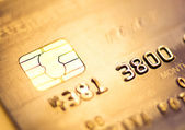 Credit card, macro — Stock Photo