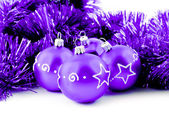 Purple balls — Stock Photo