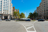 In the streets of Barcelona, Eixample district. Spain. — Stock Photo