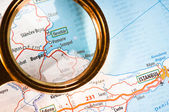 Burgas on a map — Stock Photo