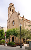 Old church in Calella. Costa del Maresme. Spain — Stock Photo