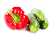 Bell pepper and cucumbers — Stock Photo