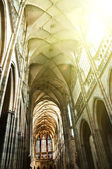 Interior of St. Vitus Cathedral in Prague — Foto de Stock