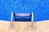 Swimming pool steps — Stock Photo