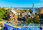 Park Guell in Barcelona, Spain. — Foto de Stock
