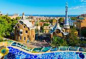 Park guell v barceloně, španělsko. — Stock fotografie