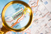 Istanbul on a map — Stock Photo