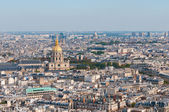 Les invalides - Aerial view of Paris. — 图库照片