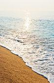Alba spiaggia tranquilla — Foto Stock