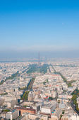 Paris aerial view from Montparnasse tower — Stock Photo