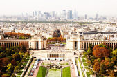 Aerial panoramic view of Paris from Eiffel Tower, France. — Stock Photo