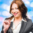 Smiling business woman. Isolated over white background — Stock Photo