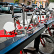 Parking of bicycles for hire — Stock Photo