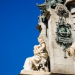Stock Photo: Details Statue Christopher Columbus city Barcelona, Spain